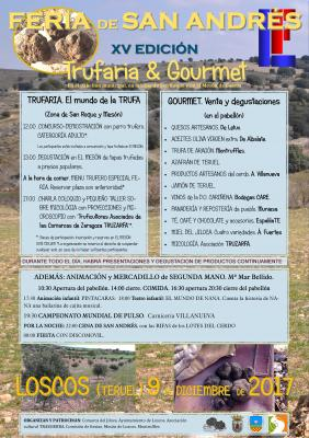 XV EDICIÓN DE LA FERIA DE SAN ANDRÉS. 2017. (Trufaria & Gourmet) .9 de DICIEMBRE. Loscos (TERUEL)